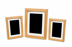 Wooden photo frame isolated on white background Stock Photography