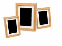 Wooden photo frame isolated on white background Royalty Free Stock Photography