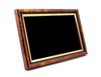 Wooden photo frame Stock Image