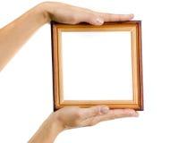 Wooden photo frame Stock Image