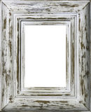 Wooden photo frame. Old wooden photo frame isolated Royalty Free Stock Photography