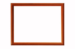 Wooden Photo frame. Isolated wooden photo frame for decoration royalty free stock photography