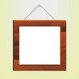 Wooden Photo Frame. Illustration of a wooden photo frame Royalty Free Stock Image