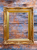 Wooden photo frame. Royalty Free Stock Images