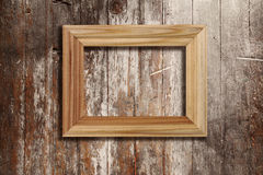 Wooden photo frame Stock Photos