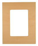 Wooden photo frame Stock Images