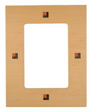 Wooden photo frame Stock Photo