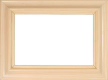 Wooden photo frame. (with empty space for text, photo or picture Royalty Free Stock Images