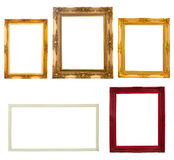 Wooden photo frame collection Royalty Free Stock Image