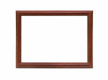 Wooden photo frame empty Isolated on white background Royalty Free Stock Images