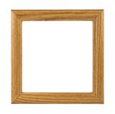 Wooden photo frame isolated Royalty Free Stock Images
