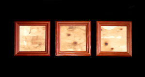 Wooden photo frames Stock Photography