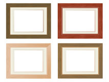 Wooden photo frames. Set of four wooden photo frames Royalty Free Stock Photos