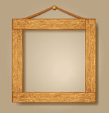 Wooden photo frames Royalty Free Stock Photography