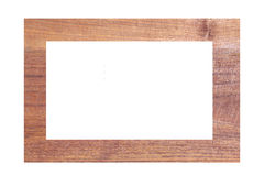 Wooden photo frames isolated. Royalty Free Stock Photo