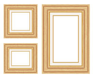 Wooden photo frames. Vector illustration Royalty Free Stock Photo