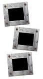 Wooden photo framework retro isolated Royalty Free Stock Image