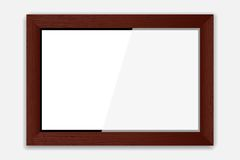 Wooden Photoframe Royalty Free Stock Photos