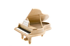 Wooden piano Stock Images