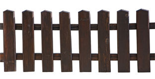 Wooden picket fence Royalty Free Stock Photos