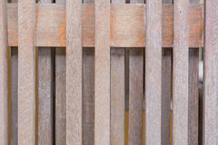 Wooden picket fence, brown. Stock Image