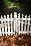 Wooden picket fence gate Royalty Free Stock Image