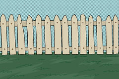 Wooden Picket Fence Royalty Free Stock Photography
