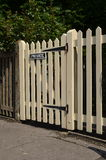 Wooden picket gate Royalty Free Stock Photography