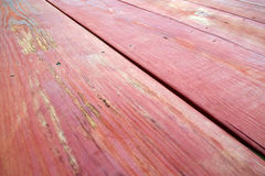 Wooden picnic table top close up Stock Image