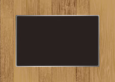 Wooden picture frame. Abstract wooden picture frame with room for your own image Royalty Free Stock Image