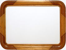 Wooden Picture Frame. A wooden picture frame, empty inside Royalty Free Stock Photography