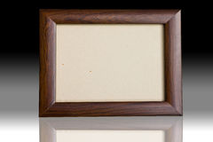 Wooden picture frame. Blank a wooden picture frame Royalty Free Stock Photos