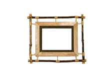 Wooden picture frame. Picture frame made out of wooden sticks Royalty Free Stock Photos