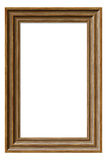 Wooden Picture Frame. Empty, wooden picture frame, isolated Stock Photo