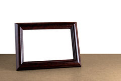 Wooden picture frame Stock Images