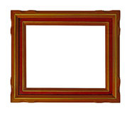 Wooden picture frame Royalty Free Stock Photo