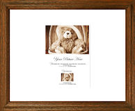 Wooden picture frame. Simple brown wooden picture frame Royalty Free Stock Photography