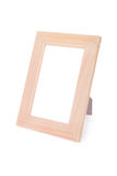 Wooden picture frame. Isolated on white background Stock Image