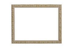 Wooden picture frame. Baroque picture frames to put your own pictures in Royalty Free Stock Image