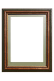 Wooden Picture Frame. Photograph of a wooden picture frame stock photos