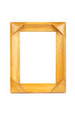 Wooden picture frame. With white background stock photo