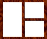 Wooden Picture Frame - Empty. Wooden Picture Frame for Multiple Images or Photos - Empty Royalty Free Stock Photography