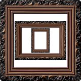Wooden picture frame generated texture stock photo