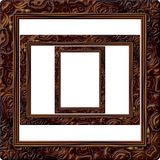 Wooden picture frame generated  texture Royalty Free Stock Photo