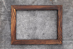 Wooden picture frame Stock Image