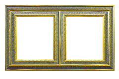 Wooden picture frame isolated Royalty Free Stock Photo
