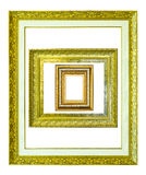Wooden picture frame isolated Royalty Free Stock Images