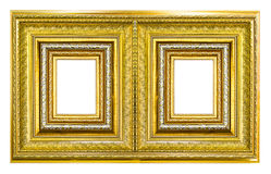 Wooden picture frame isolated Stock Photo