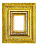 Wooden picture frame isolated Royalty Free Stock Image