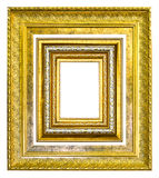 Wooden picture frame isolated Stock Image